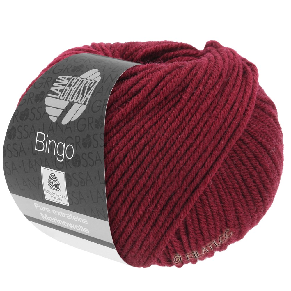 Lana Grossa BINGO  Uni/Melange | 007-rouge vin