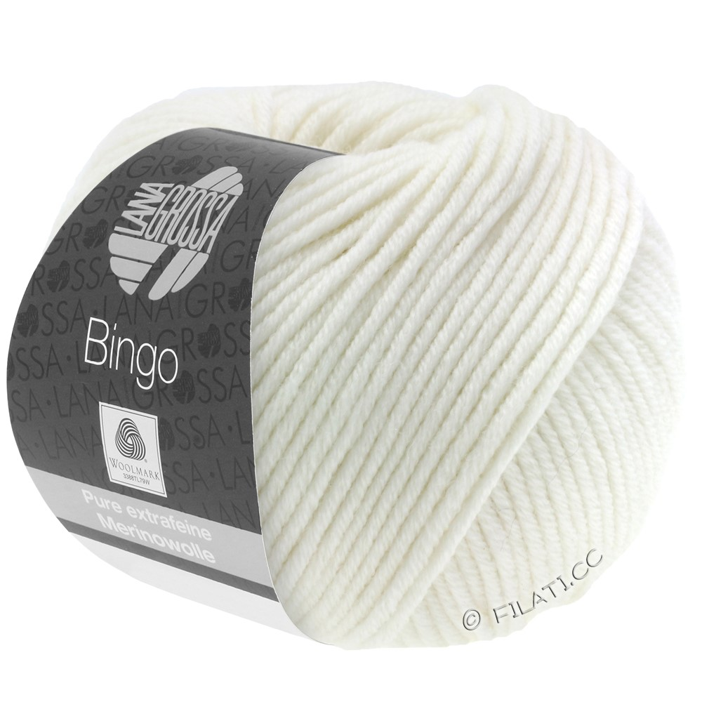 Lana Grossa BINGO  Uni/Melange/Print | 023-blanc