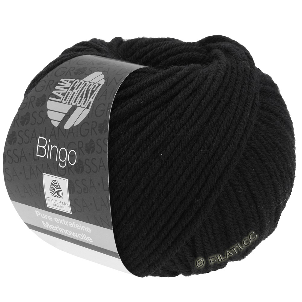 Lana Grossa BINGO  Uni/Melange/Print | 024-noir