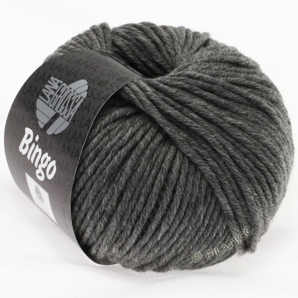 Lana Grossa BINGO  Uni/Melange | 120-gris foncé chiné