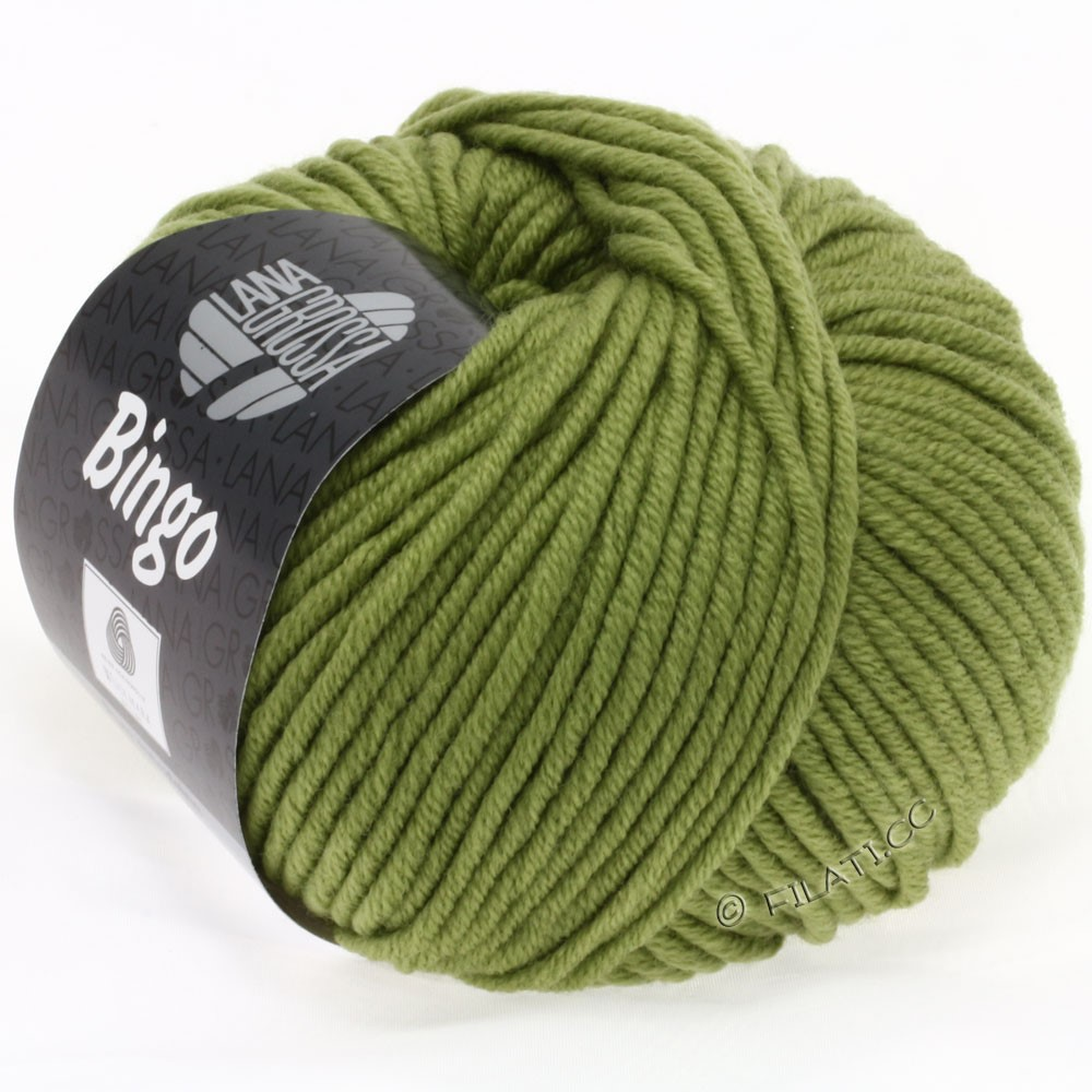 Lana Grossa BINGO  Uni/Melange/Print | 148-vert olive