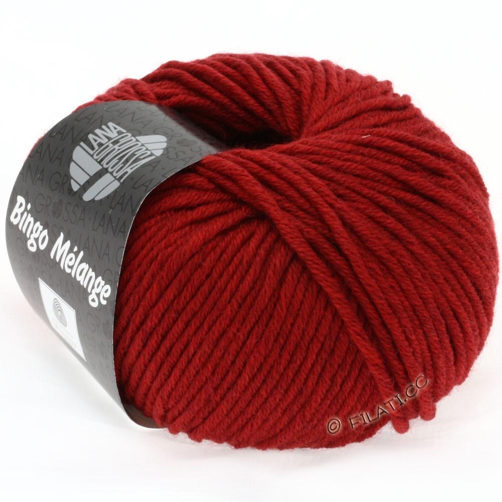 Lana Grossa BINGO  Uni/Melange/Print | 226-rouge foncé chiné