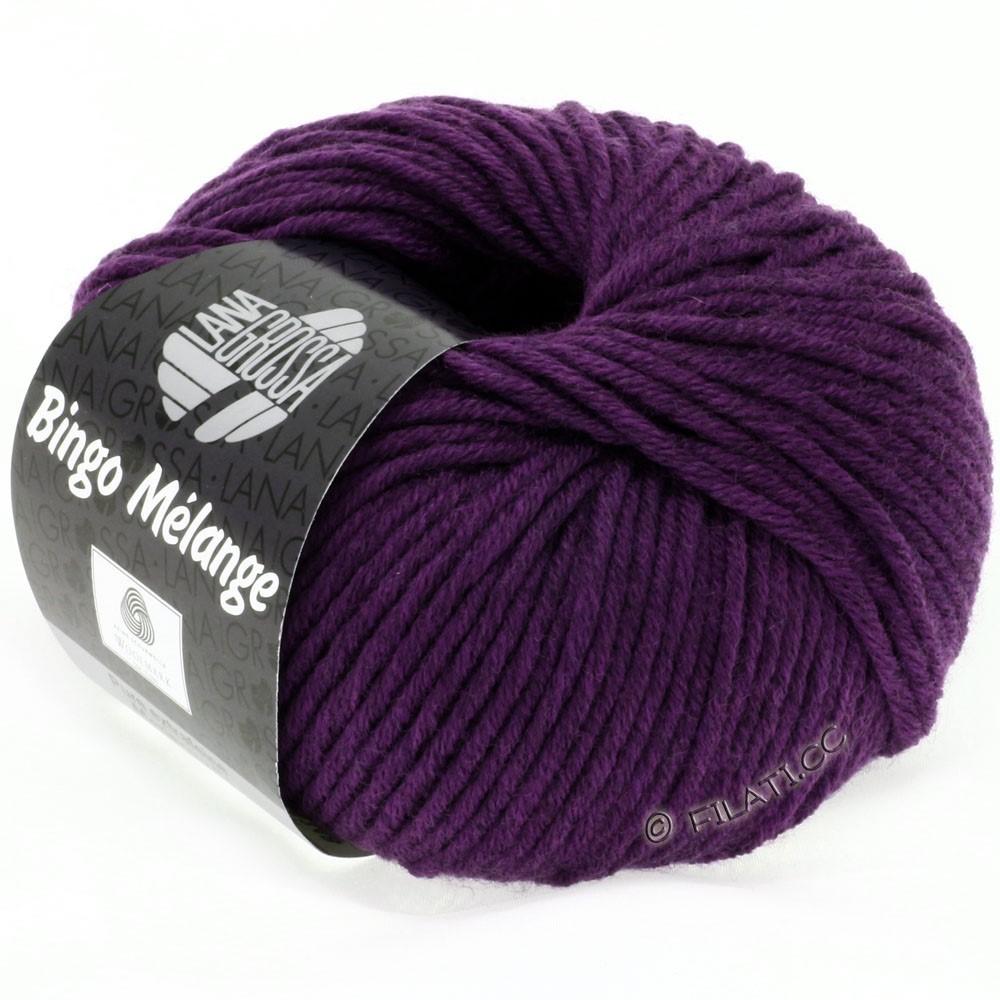 Lana Grossa BINGO  Uni/Melange/Print | 229-violet foncé chiné