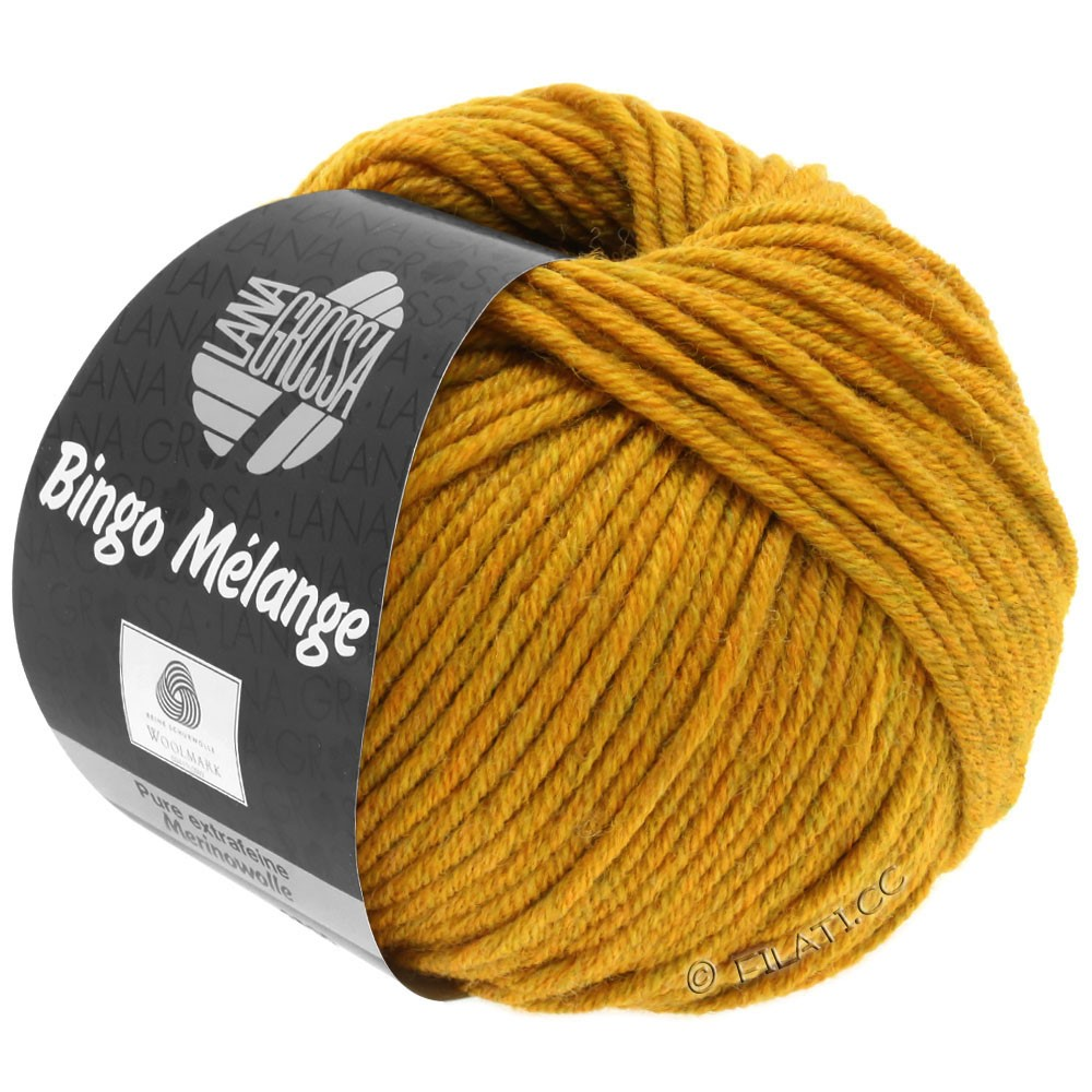Lana Grossa BINGO  Uni/Melange | 242-jaune moutarde chiné
