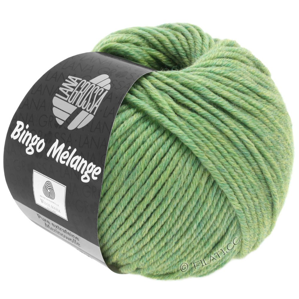 Lana Grossa BINGO  Uni/Melange | 243-vert clair chiné