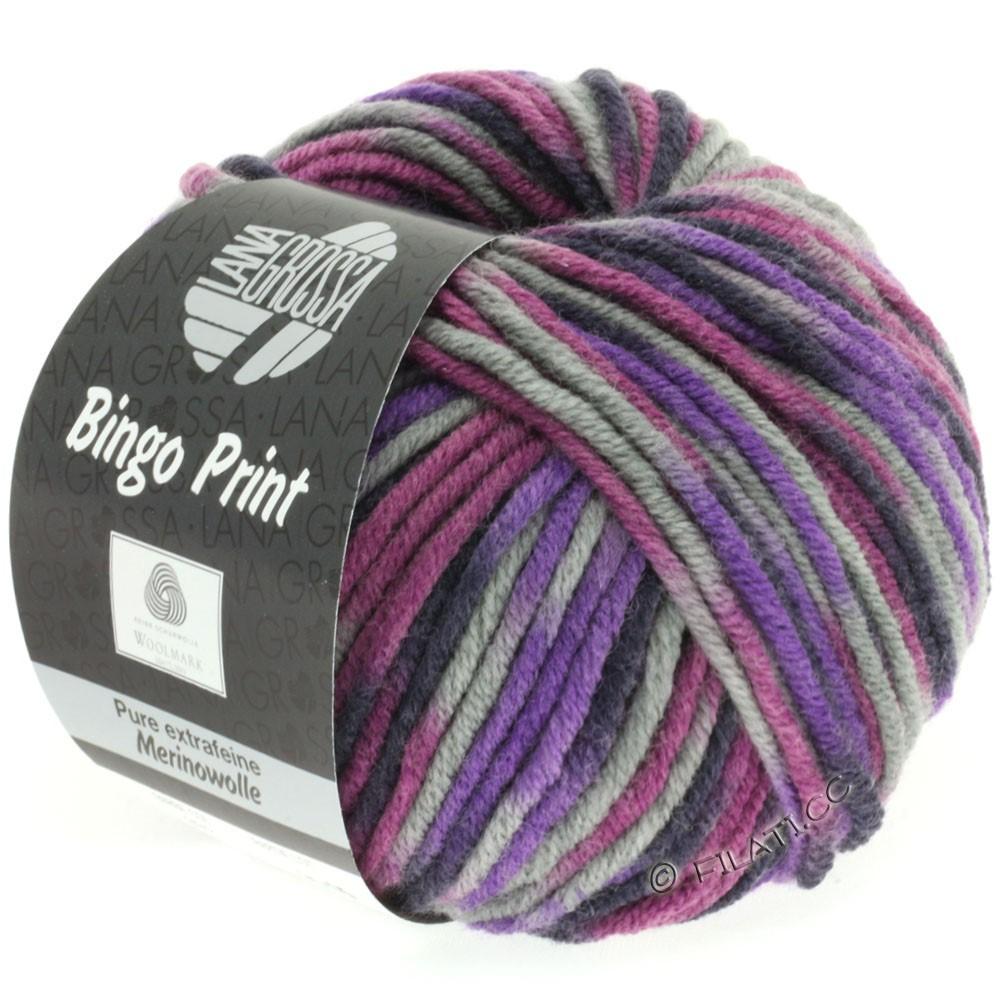 Lana Grossa BINGO Print | 332-violet/gris clair/aubergine/aîné