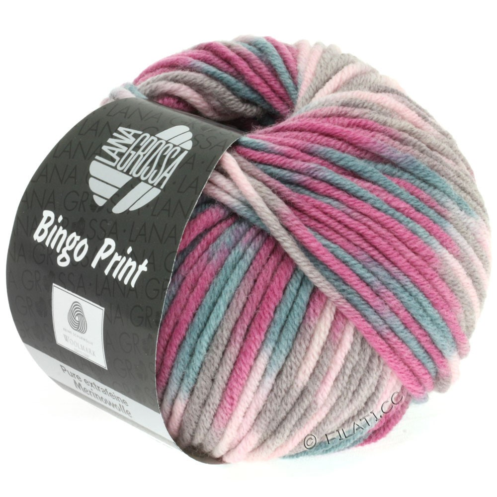 Lana Grossa BINGO  Uni/Melange/Print | 361-rose/bruyère/beige gris/gris vert