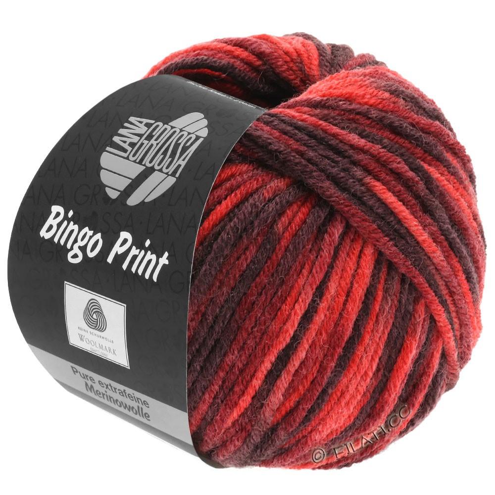 Lana Grossa BINGO  Uni/Melange/Print | 366-rouge/rouge vin/bourgogne