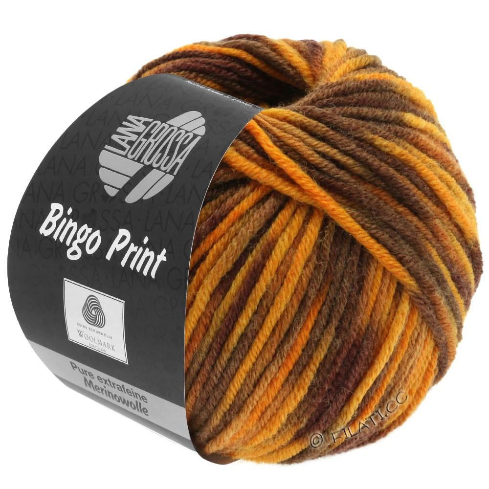 Lana Grossa BINGO  Uni/Melange/Print | 369-ambre/caramel/marron/brun foncé