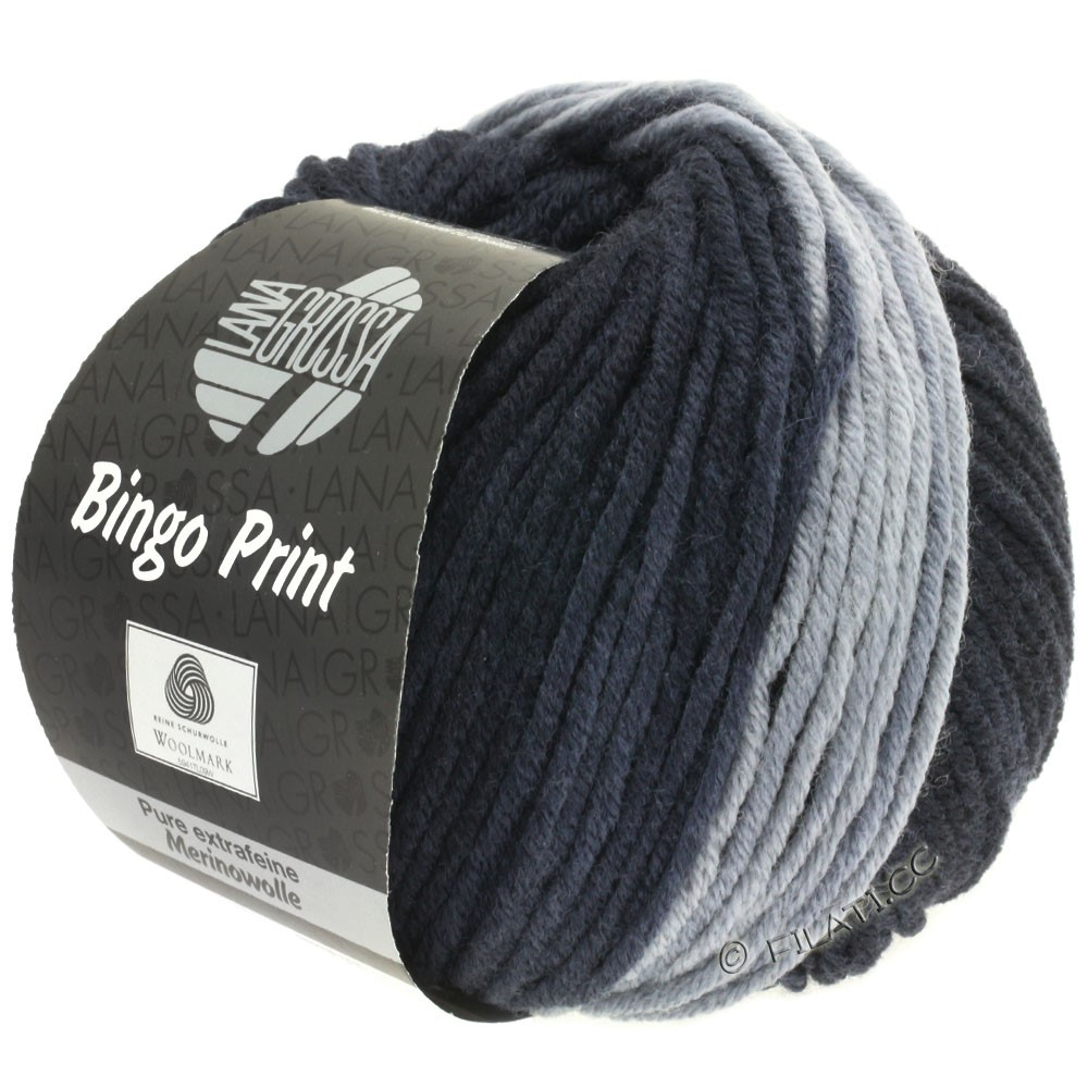 Lana Grossa BINGO  Uni/Melange/Print | 605-gris clair/gris acier