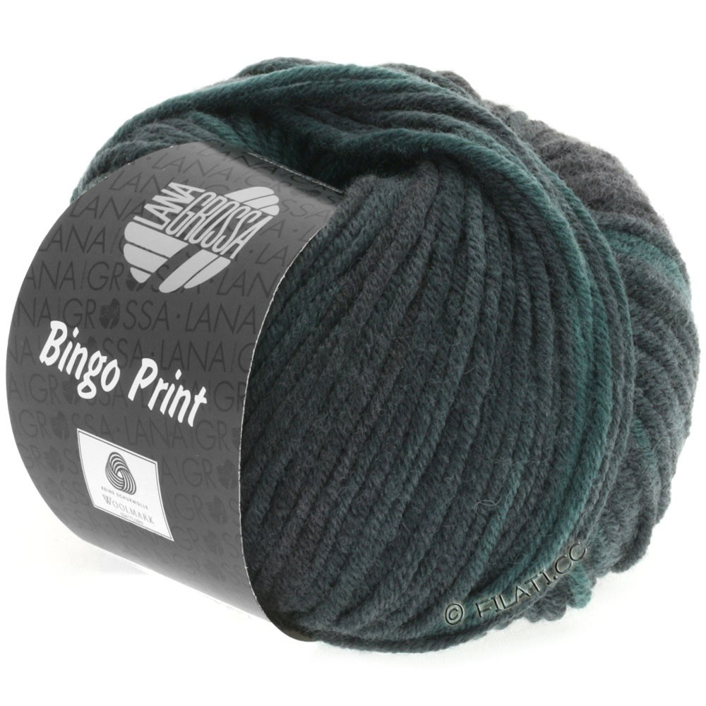 Lana Grossa BINGO  Uni/Melange/Print | 611-sapin/gris vert/noir