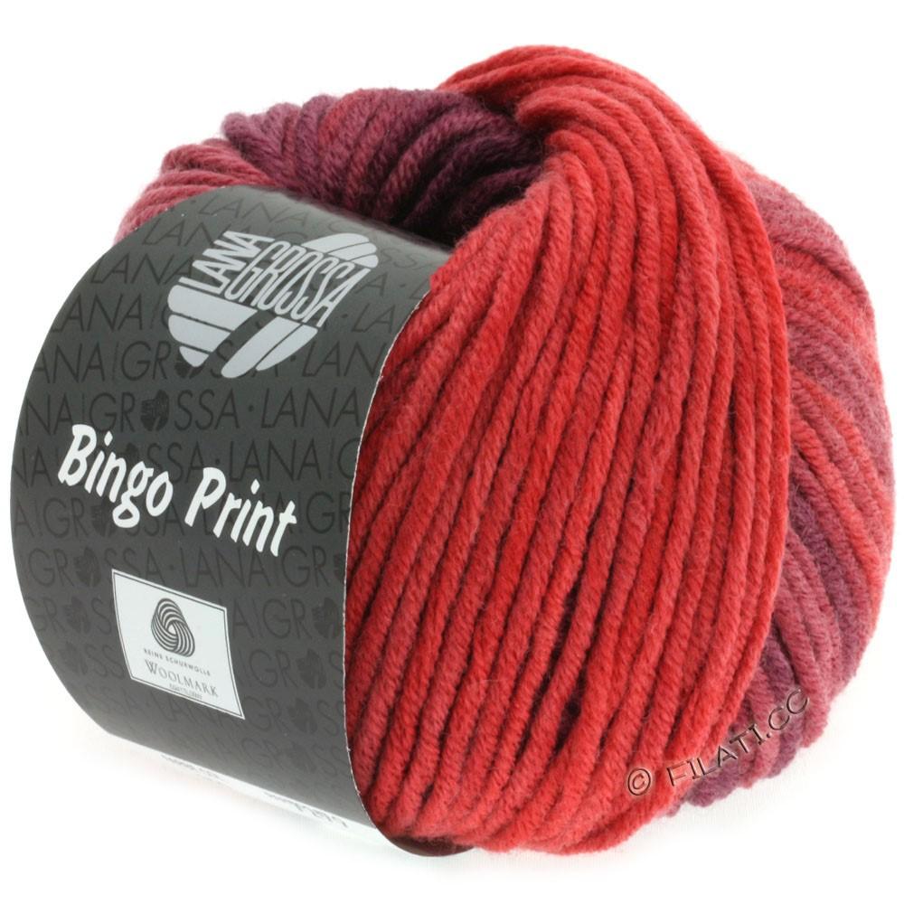 Lana Grossa BINGO  Uni/Melange/Print | 613-rouge brique/bourgogne/rouge tomate