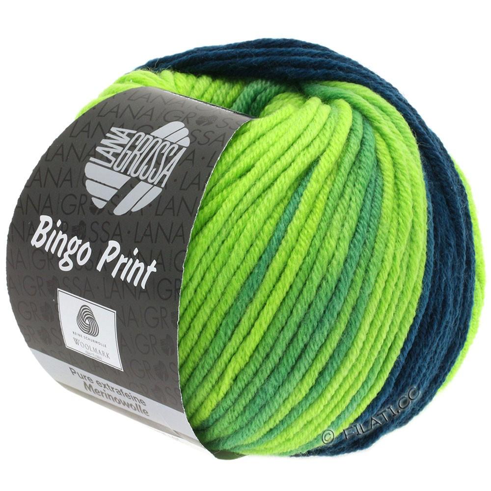 Lana Grossa BINGO  Uni/Melange/Print | 620-pétrole/pistache/vert clair
