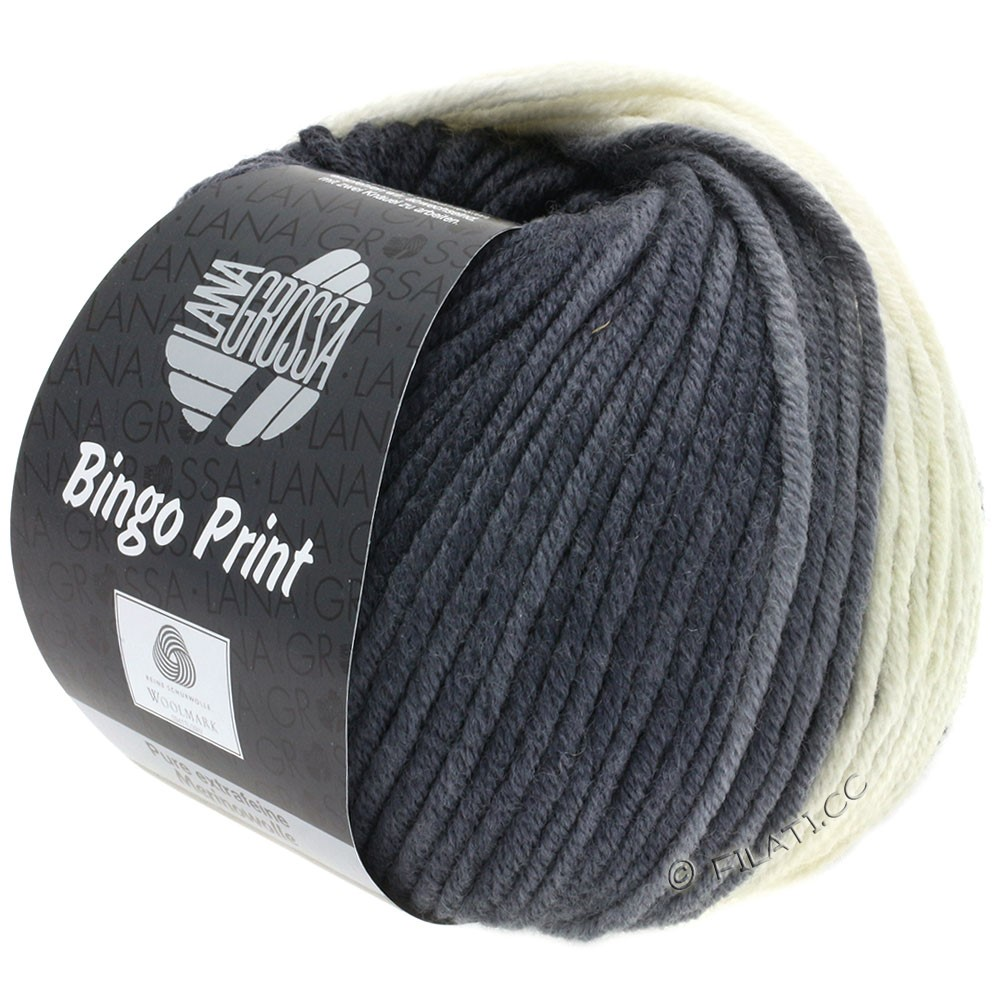 Lana Grossa BINGO  Uni/Melange/Print | 622-gris argent/gris moyen/anthracite