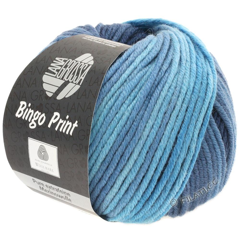 Lana Grossa BINGO  Uni/Melange/Print | 626-bleu clair/bleu gris/bleu nuit