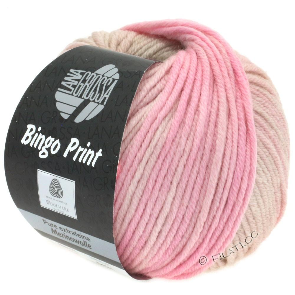Lana Grossa BINGO  Uni/Melange/Print | 628-beige clair/poudre/rose délicat