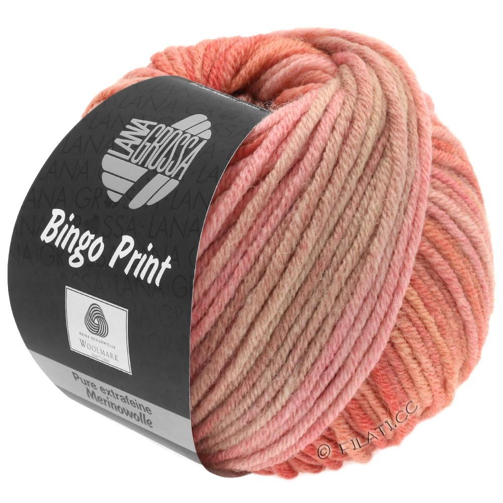 Lana Grossa BINGO  Uni/Melange/Print | 629-rose saumon/gris brun/violette antique