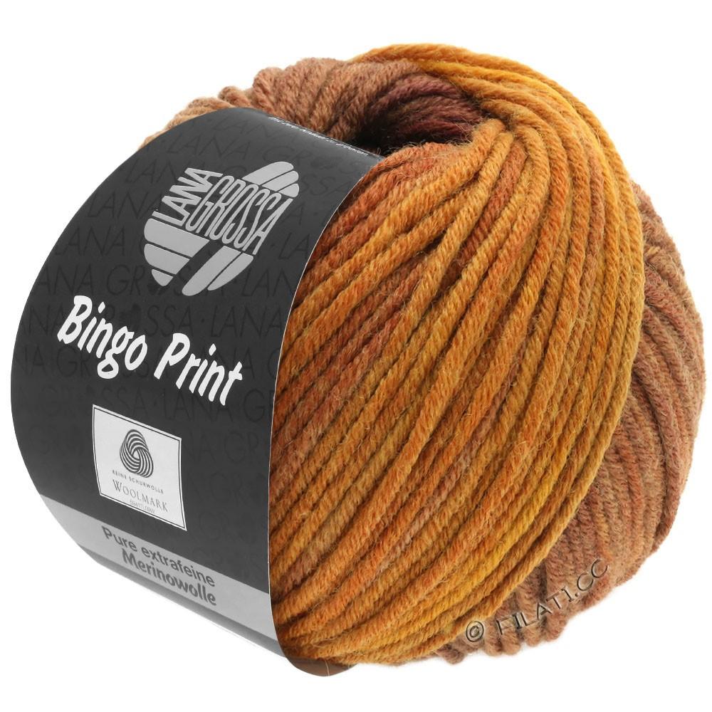 Lana Grossa BINGO  Uni/Melange/Print | 631-ambre/cuivre/marron