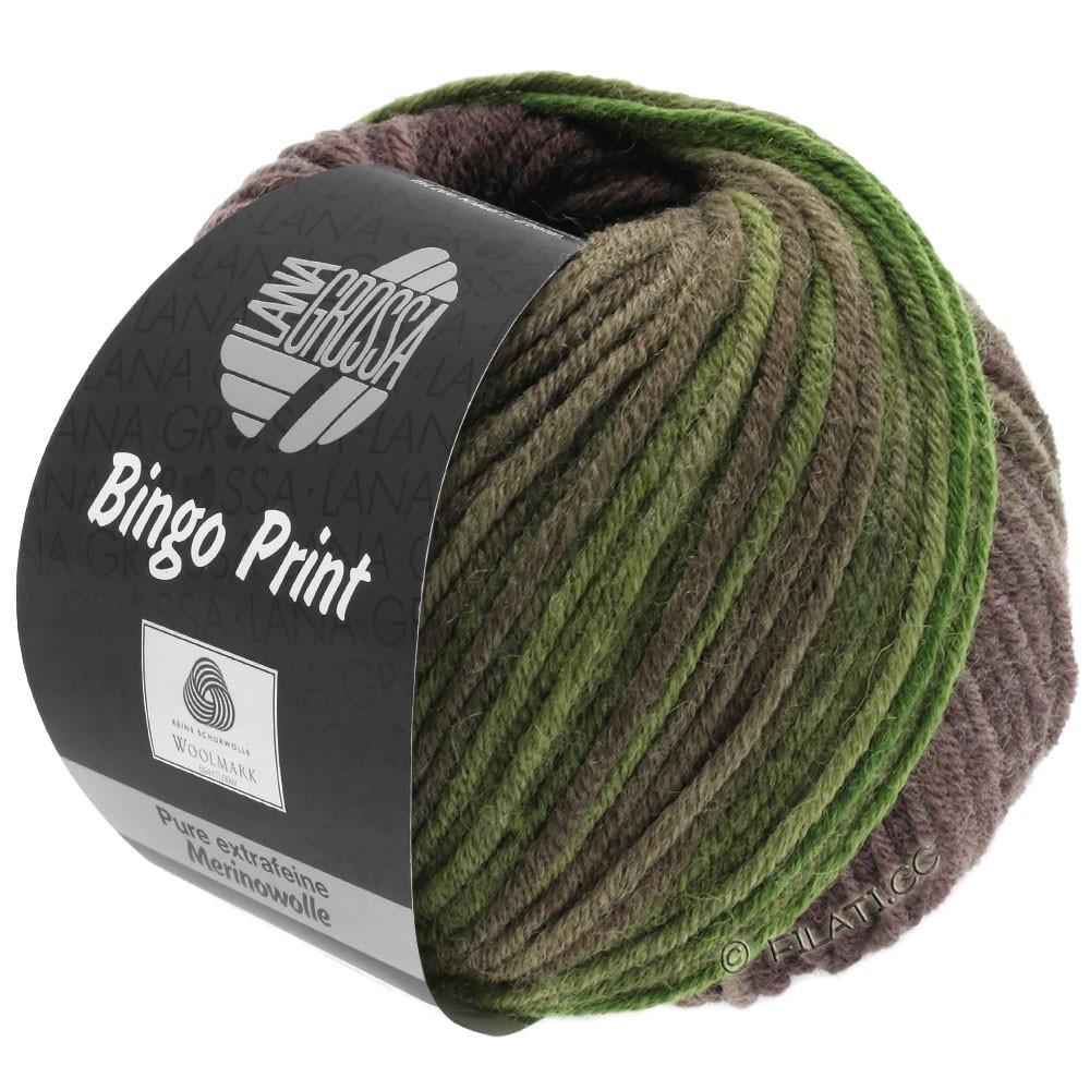 Lana Grossa BINGO  Uni/Melange/Print | 632-kaki/olive/brun gris