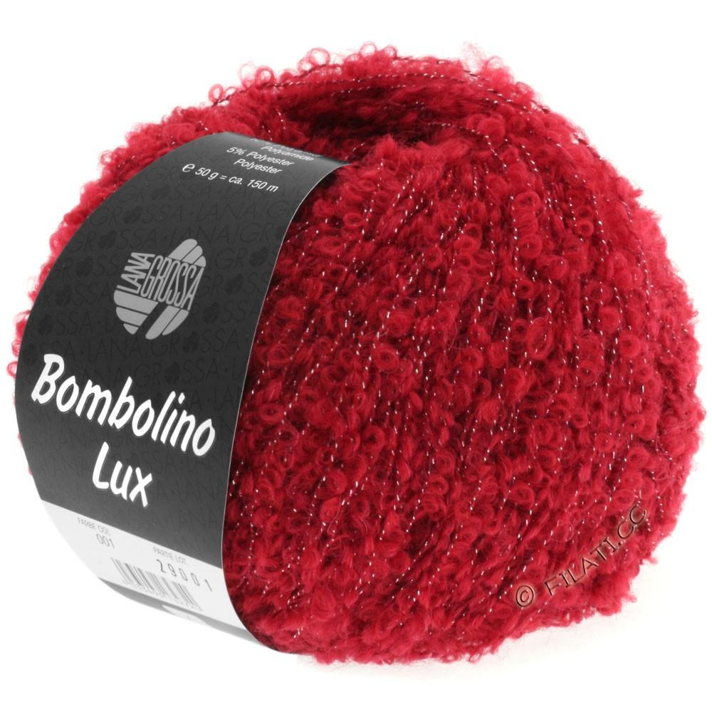 Lana Grossa BOMBOLINO Lux   001-rouge/argent