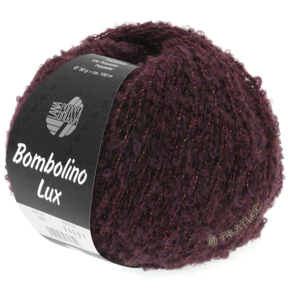 Lana Grossa BOMBOLINO Lux   002-mûre/cuivre