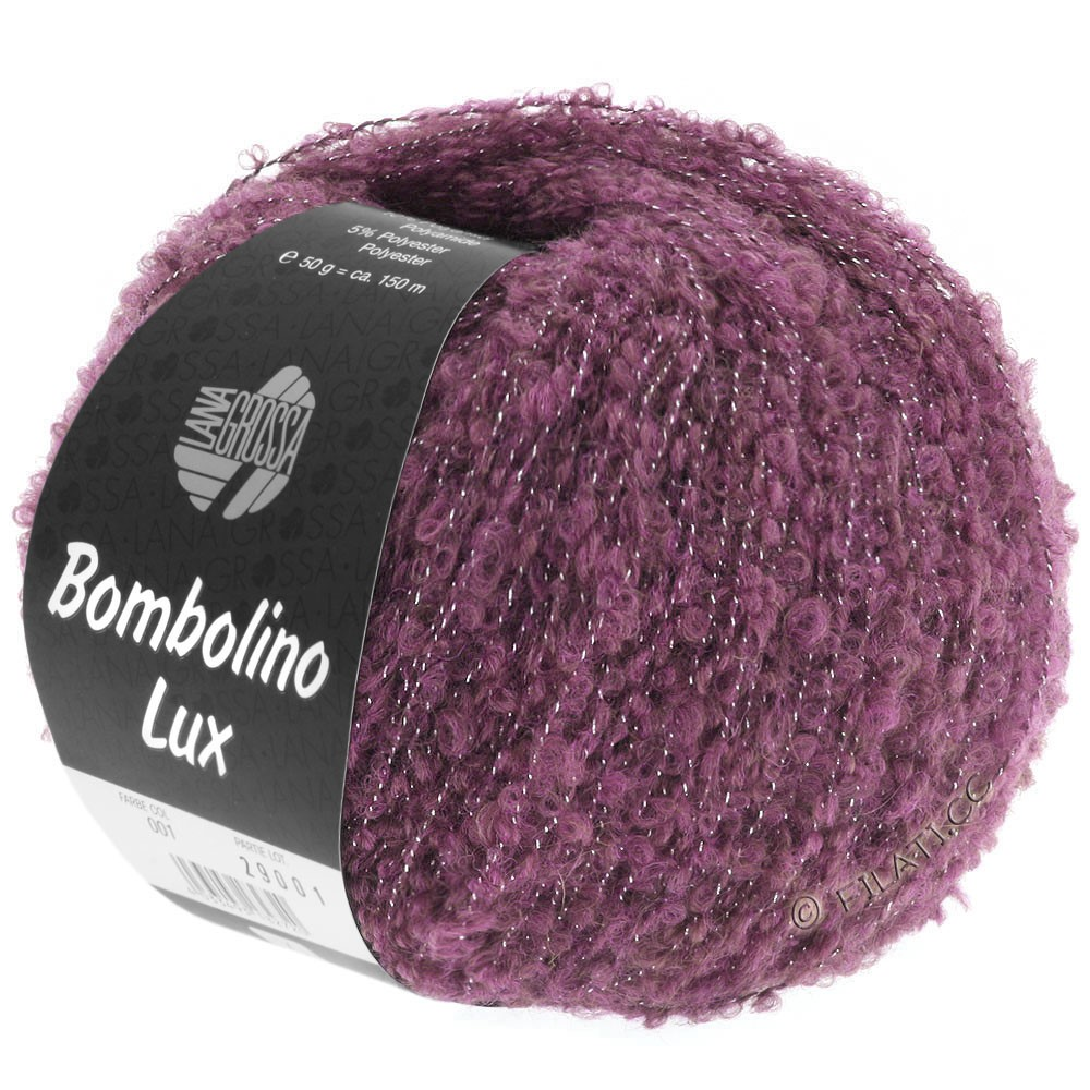 Lana Grossa BOMBOLINO Lux | 003-lilas/argent