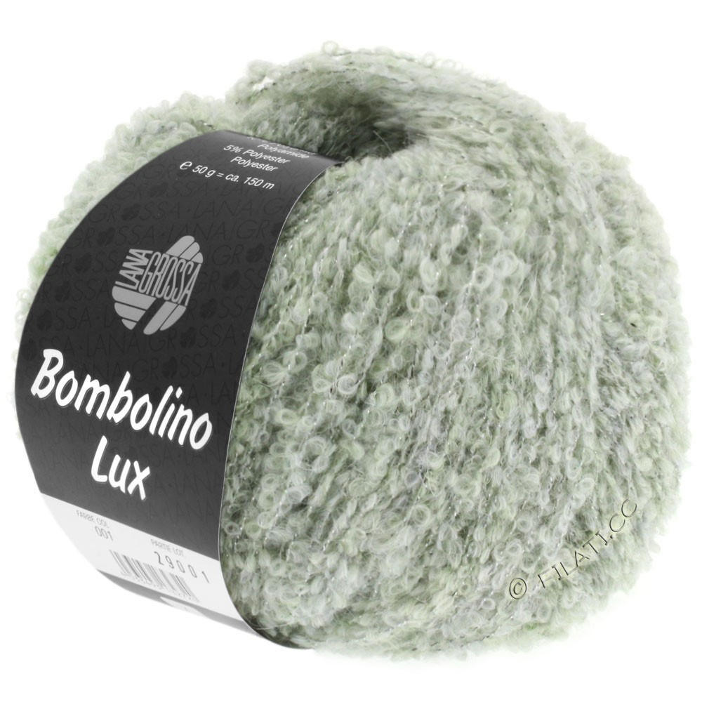 Lana Grossa BOMBOLINO Lux   007-vert tendre/argent