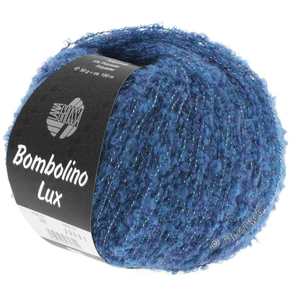 Lana Grossa BOMBOLINO Lux   009-bleu/argent