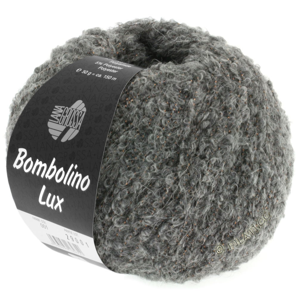 Lana Grossa BOMBOLINO Lux   011-gris/cuivre