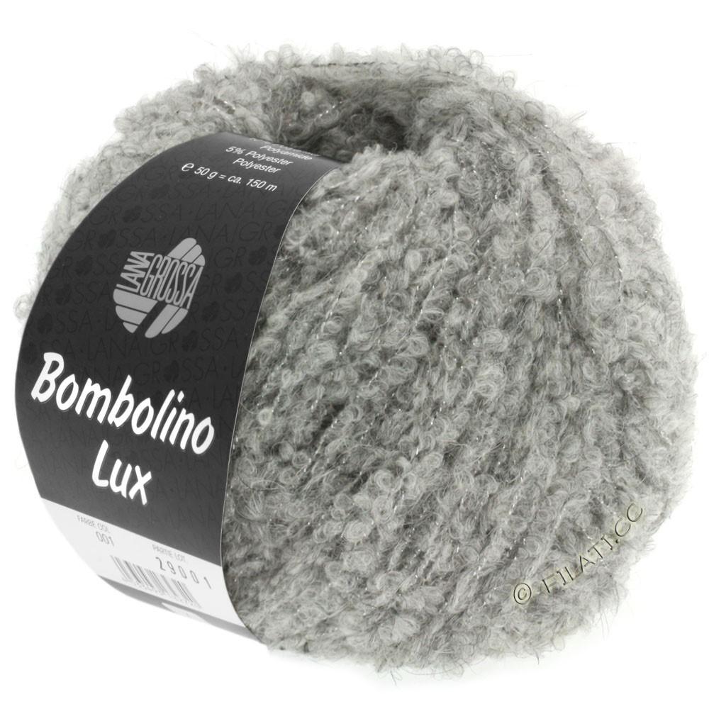 Lana Grossa BOMBOLINO Lux | 012-gris clair/argent