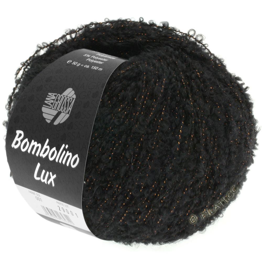 Lana Grossa BOMBOLINO Lux | 013-noir/cuivre