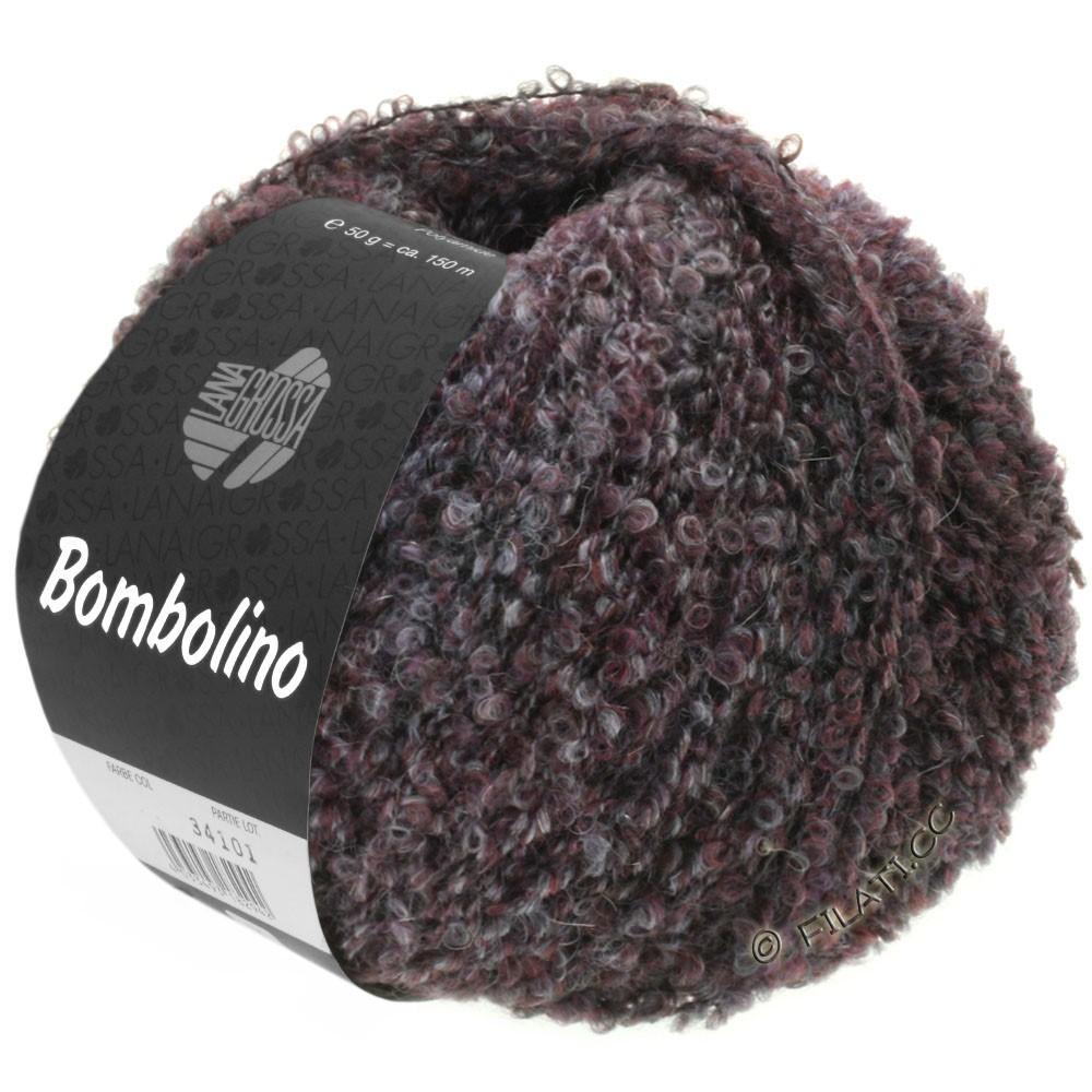 Lana Grossa BOMBOLINO Degradé | 106-gris/anthracite/bourgogne