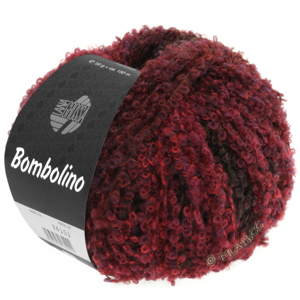 Lana Grossa BOMBOLINO Degradé | 108-rouge/violet/rouge brun