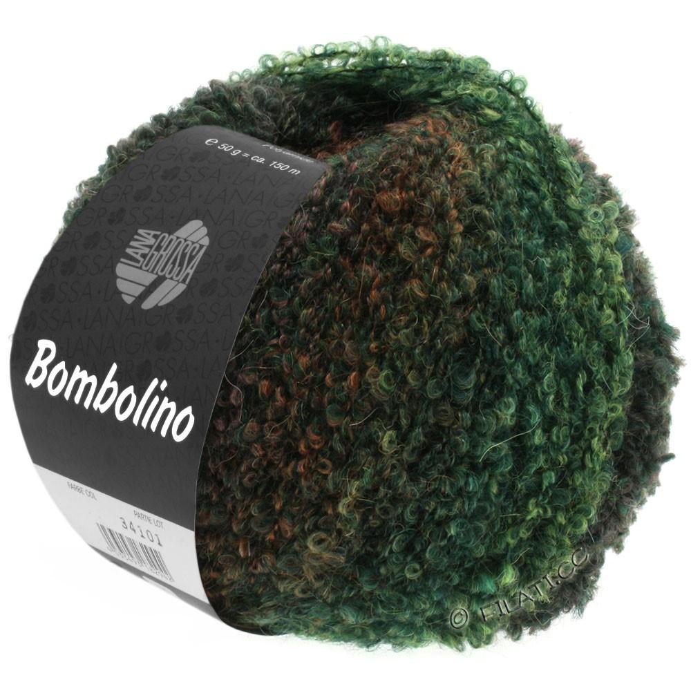 Lana Grossa BOMBOLINO Degradé | 109-vert/sapin/brun rouge