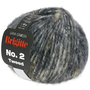 Lana Grossa BRIGITTE NO. 2 Tweed | 102-gris clair/brun gris/anthracite