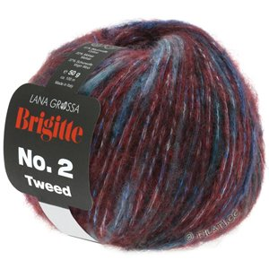Lana Grossa BRIGITTE NO. 2 Tweed | 104-bourgogne/royal/violet
