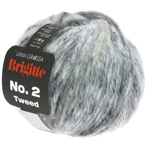 Lana Grossa BRIGITTE NO. 2 Tweed | 109-gris argent/gris clair/gris/anthracite