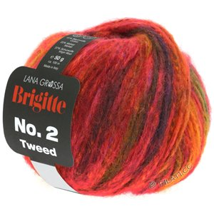 Lana Grossa BRIGITTE NO. 2 Tweed | 110-rouge/cuivre/orange