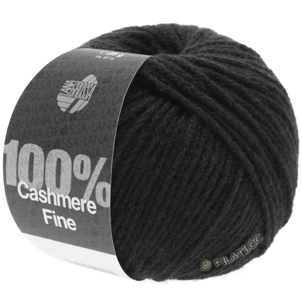 Lana Grossa 100% Cashmere Fine | 17-noir