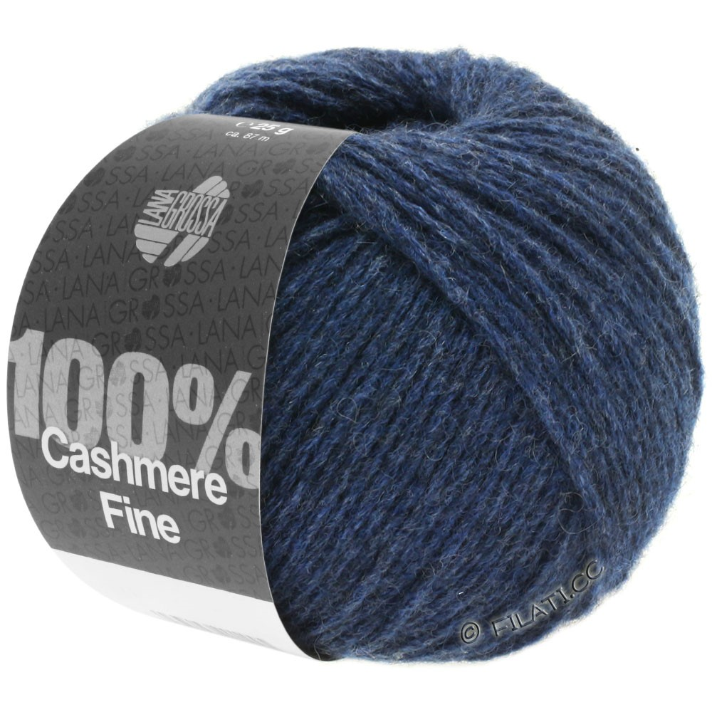 Lana Grossa 100% Cashmere Fine | 18-bleu foncé
