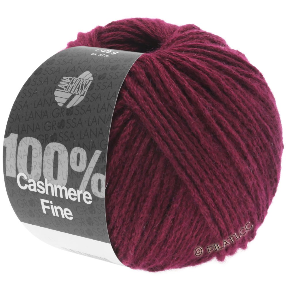 Lana Grossa 100% Cashmere Fine | 24-bourgogne
