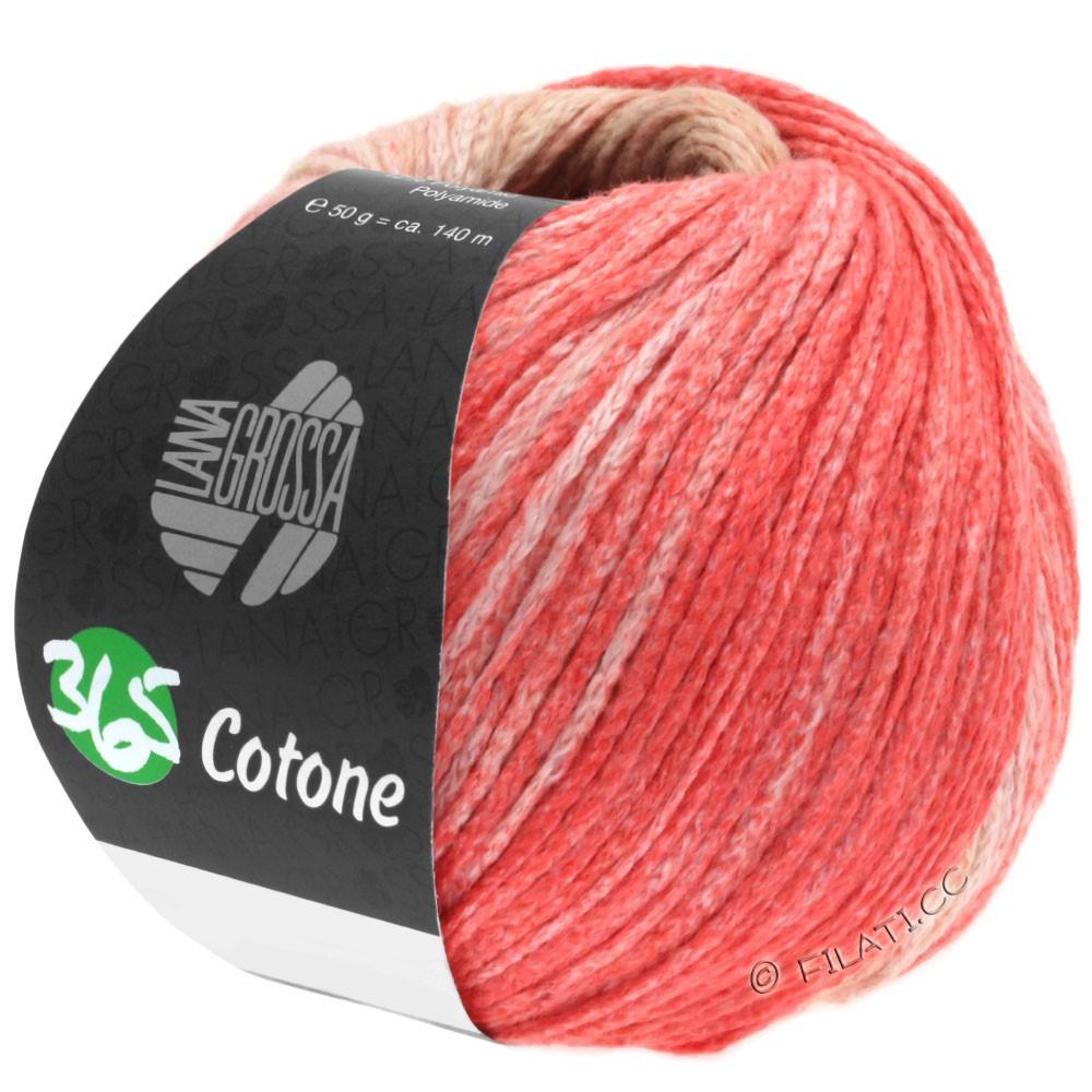 Lana Grossa 365 COTONE Degradé | 101-beige/chameau/rose saumon/rouge