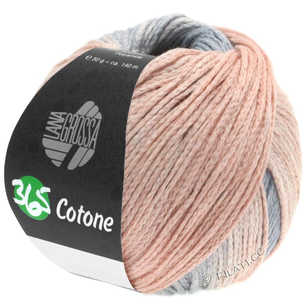 Lana Grossa 365 COTONE Degradé | 102-gris clair/gris/pêche/rouge comme l'argile brûlée