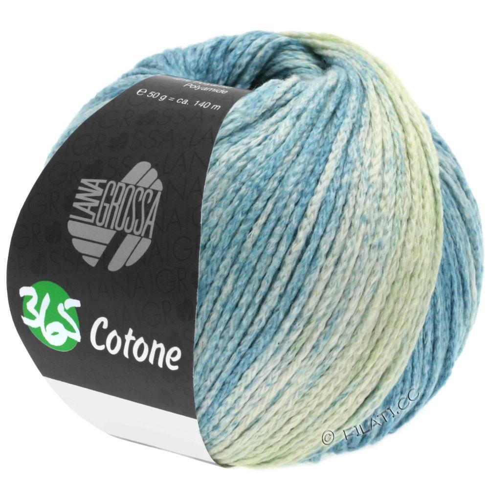 Lana Grossa 365 COTONE Degradé | 103-vert tendre/gris vert/pétrole clair/pétrole foncé