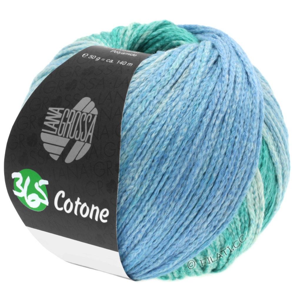 Lana Grossa 365 COTONE Degradé | 104-vert opale clair/vert opale foncé/gris bleu/gris pétrole