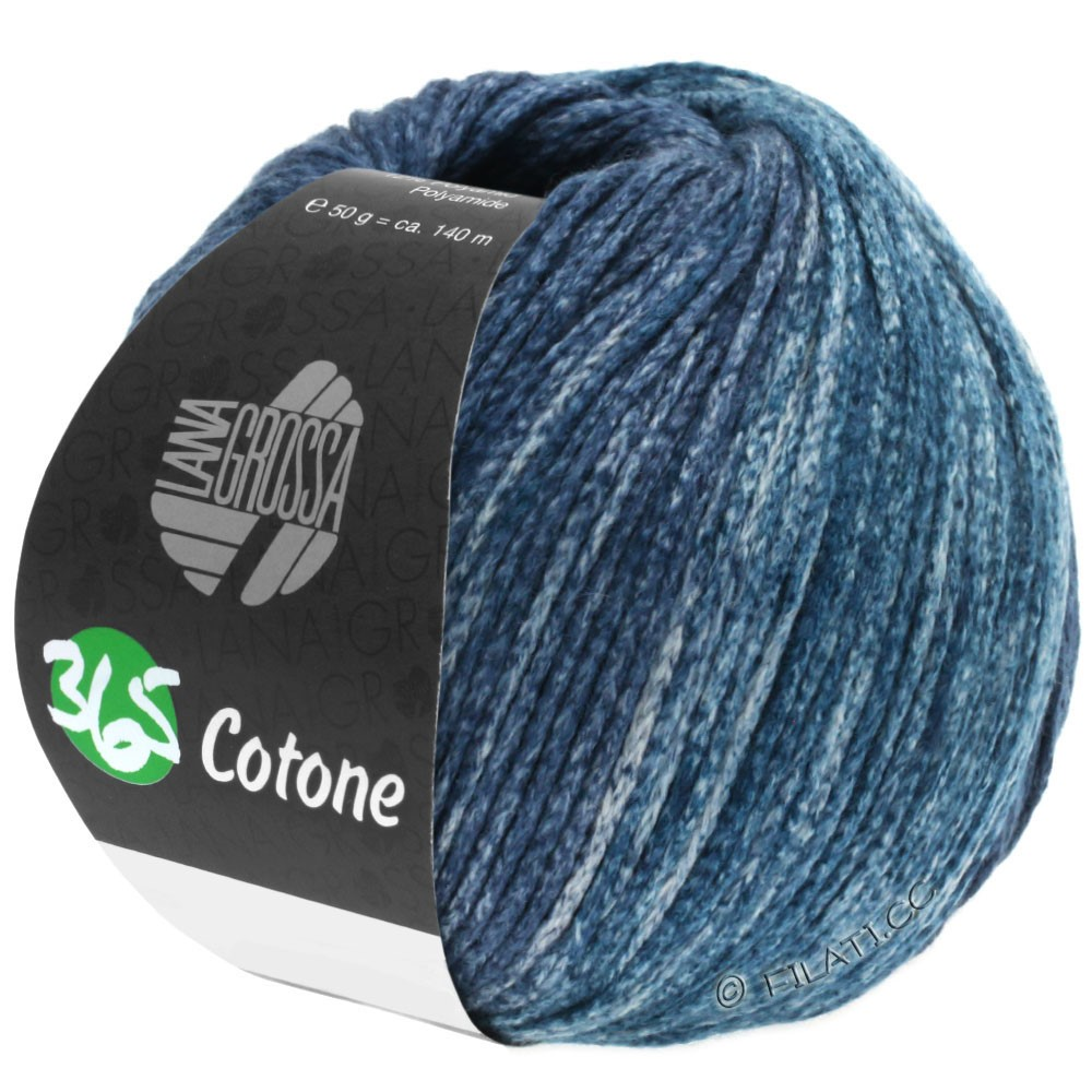 Lana Grossa 365 COTONE Degradé | 106-gris/gris bleu/gris pétrole/bleu noir