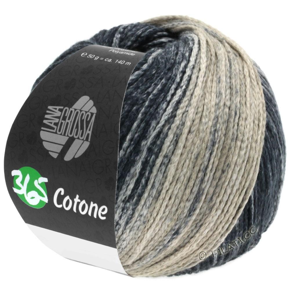 Lana Grossa 365 COTONE Degradé | 107-grège/gris beige/anthracite/noir