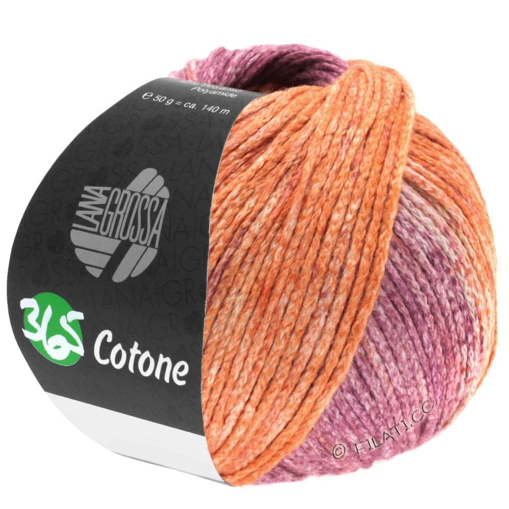 Lana Grossa 365 COTONE Degradé | 108-pêche/terre/violet