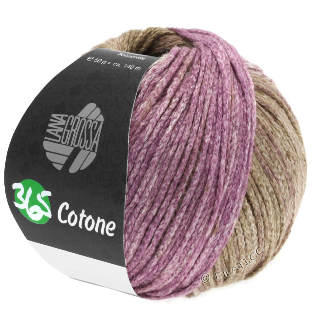 Lana Grossa 365 COTONE Degradé | 109-beige/brun/violet rouge
