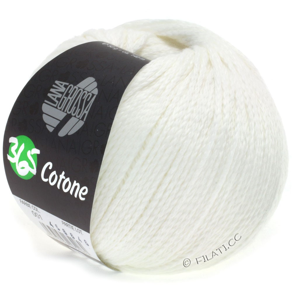 Lana Grossa 365 COTONE   01-blanc
